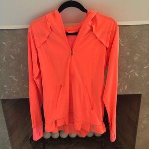 Lululemon Pink/Orange Rain Jacket Ruffle Sz 8